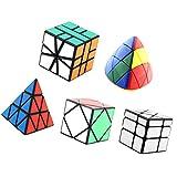 MagiDeal Unregelmäßige Cube Set - Zauberwürfel - Pyraminx Zauberwürfel - 5 in Paket - Mehrfarbig
