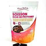 Bebida hiperproteica de chocolate Maxi Bolsa económica 450 gr de 18 porciones para dieta proteica adelgazante