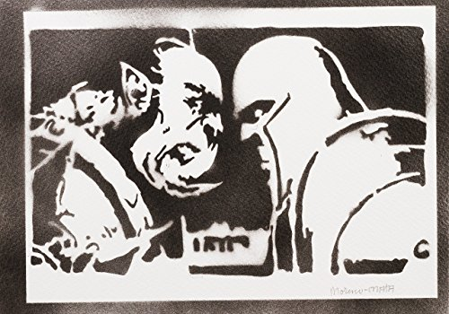 Póster World Of Warcraft WOW Grafiti Hecho A Mano - Handmade Street Art - Artwork