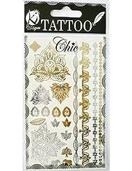 "Tatouage éphémère ""Tatoo chic"" - Eléphants - Ki-Sign"