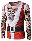 WHATLEES Unisex langärmliges Weihnachtsshirt Christmas T-Shirt mit 3D Druckmuster, B397-17, S