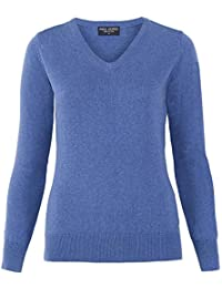 1772f83e2c05 Paul James Knitwear Ladies Pure Cotton V-Neck Jumper