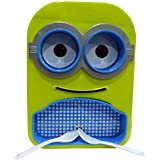 Tako Bell Minion Printed Stylish Multipurpose Food Serving Plate With Bowls,Spoon &Fork For Kids For Gift( Colour May Be Vary)