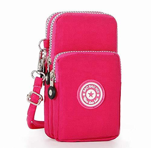 Mobile-edge-pink Handtasche (Handtasche für Samsung Galaxy S10 / S10e / S10 Plus/LG G8 ThinQ/LG V50 ThinQ/Motorola Moto G7 / G7 Plus / G7 Play, Rose)