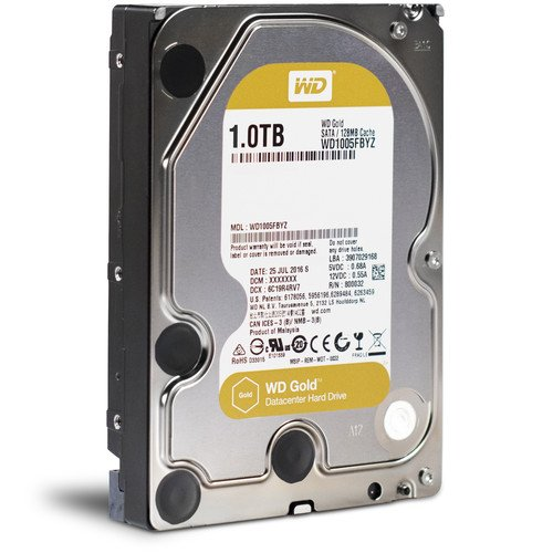 WD Gold 1 TB (Wd1005Fbyz) Gold Datacenter Hard Drive (Sata 6Gb/S, 3.5 Inch, 7200 RPM, 128Mb Cache)