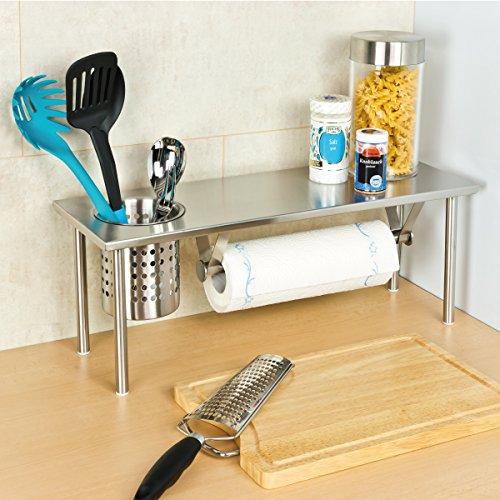 bremermann® mensola per la cucina con porta-rotolo e porta-utensili ...
