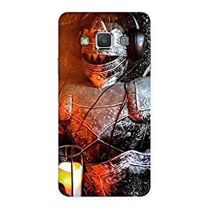 Knight Warrior Multicolor Back Case Cover for Galaxy A3