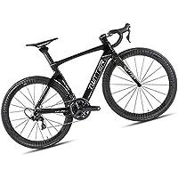Bicicleta De Ciudad De Carretera, Material De Fibra De Carbono/Nivel De Carrera, Adecuado para Personas De Altura, Bicicleta Familiar De Ciclo Deportivo Al Aire Libre, Negro/Rojo,Black,45CM