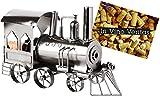 BRUBAKER portabottiglie dal design locomotiva che porta il vino
