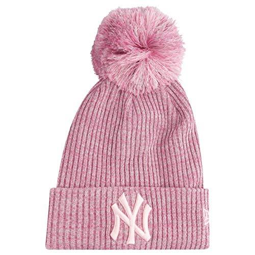New Era Eng Fit Knit Bommelmütze NY Yankees Rosa -