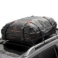 "F Fellie Cover Waterproof Car Roof Bag 443 Litres Cargo Top Carrier 47""x34""x17"" for Cars Vans SUVs Trucks (Black)"