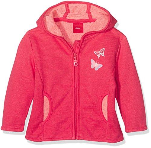 s.Oliver Baby-Mädchen Sweatshirt-Jacke, Rot (Red Melange 45W8), 62