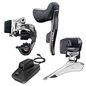 Sram Red eTAP Electronic Road Groupset (Shifters, Rear Derailleur and battery, Front Derailleur and battery, Charger and cord, USB Stick and Quick Start Guide)