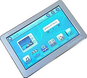 Evodigitals Argent 8Go 10,9cm Lecteur MP3MP4MP5avec écran tactile avec sortie TV Égaliseur–Vidéos | Musique | Photos | etc | + Plus.
