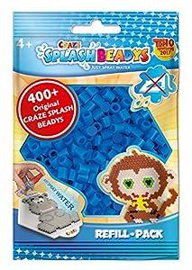 CRAZE- Cuentas de fusibles Fuse Splash BEADYS Set Craft Beads Azul Recarga de Paquete de Perlas de Agua para tapar 11690, Color