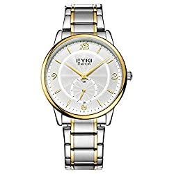 TIDOO Full Gold Stainless Steel Watch Mens Watches Top Brand Luxury Waterproof Quartz-watch Wrist watches for Men