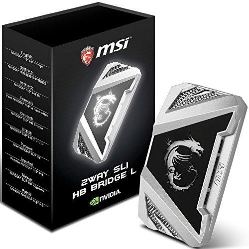 MSI 2WAY SLI HB Bridge L Internal interface cards/adapter - interface cards/adapters (SLI, SLI, Black, Silver, 63 mm, 25 mm, 110 mm)