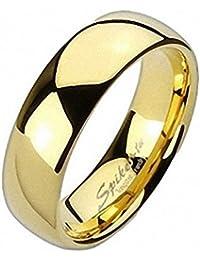 Taffstyle® Wolfram Carbide Ehering Ring Gold plattiert poliert
