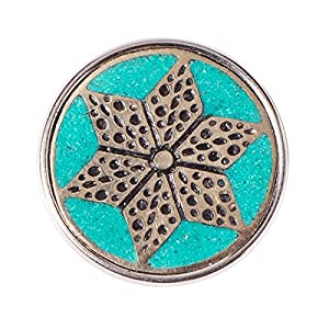 Noosa Chunk Wabi Sabi ASANOHA – silver/ blue – white metal/ powderstone
