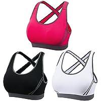 Women's Sports Bra Mid Impact Yoga Bra Padded Running Jogging Exercise Fitness Blockout Vest Gymwear Crop-top Tank Tops