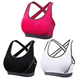 DODOING Women Jogging Sports Blockout Bra Vest Gymwear Fitness Crop-top Yoga Exercise Tank Tops