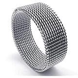 خاتم للرجال بتصميم مميز من الفضة