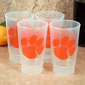 NCAA Clemson Tigers 4-Pack 16oz Plastic Cups