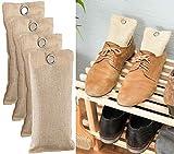 newgen medicals Fußgeruchschuh-Deos: 2in1-Schuh-Erfrischer mit Bambus-Aktivkohle, geruchsmildernd, 4x 75 g