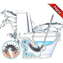 Queta desatascador WC Saltador de baño Dredge Manguera fijación para Syphon-Type Mango de Acero
