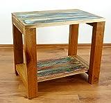 Java Beistelltisch | Recyceltes buntes Bootsholz | Asiatischer Wohnzimmertisch | Designer Möbel aus Bootsholz | Massivholztisch der Marke Asia Wohnstudio | Kaffeetisch aus Bootsholz | Beistelltisch