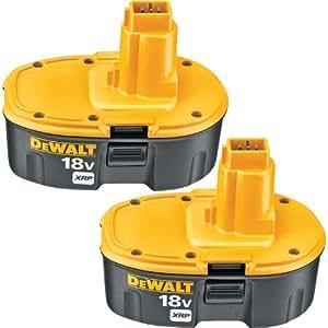 DeWalt DC9096/DE9096 Lot de 2 batteries NI-CD 2,4Ah 18V