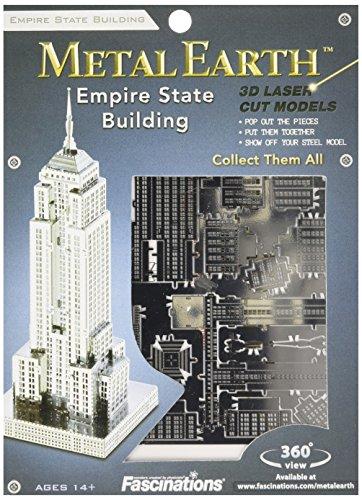 Fascinations Metal Earth MMS010 - 502558, Empire State Building, Konstruktionsspielzeug, 1 Metallplatine, ab 14 Jahren -