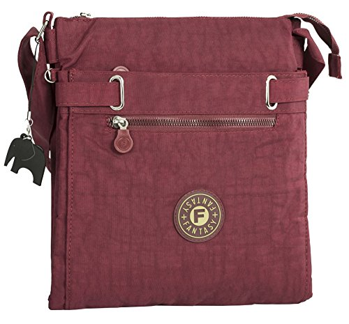 Big Handbag Shop - Borsa a tracolla donna Burgundy