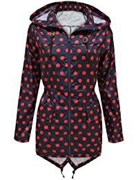 Niko New Womens Polka Dot Fishtail Mac Waterproof Parka Rain Ladies Jacket Coat