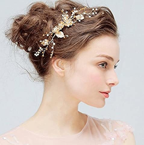 Aukmla Bridal Hair Combs Accessories Flowerrs Wedding for Bride and Bridesmaid