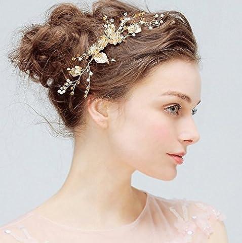 Aukmla Mariage Peignes de cheveux et accessoires Flowerrs Mariage pour mariée et Demoiselle d'honneur