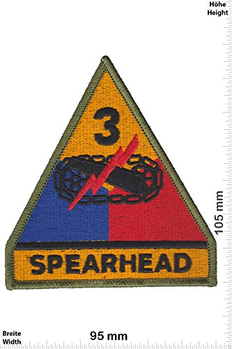 Patch - Spearhead - 3rd Armored Division - HQ - Military - U.S. Army - Air Force -Tactical - Arme - Bundeswehr - Militär - Patches - Aufnäher Embleme Bügelbild Aufbügler