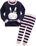 Vaenait Baby Säugling Kinder Langarm zweiteilige Schlafanzüge Set Funny Bunny M