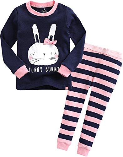 Vaenait baby 74-122 Saeugling Maedchen Bekleidung Langarm zweiteilig Schlafanzug niedlich Funny Bunny S