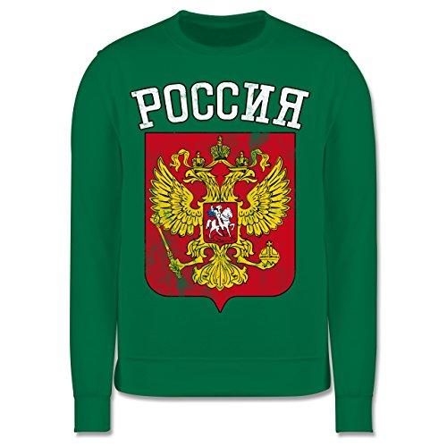 Shirtracer Fußball-Europameisterschaft 2020 Kinder - Russland Wappen WM - 12-13 Jahre (152) - Grün - JH030K - Kinder Pullover