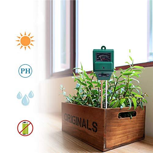 RCYAGO 3 in 1 Digitales Boden Feuchtemesser Licht und pH Säure Meter Pflanze Tester Perfekt für die Förderung der Gartenarbeit Rasen Indoor und Outdoor-Arbeiten