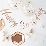 """Ginger Ray """"Party In A Box"""": Komplettes Partyset Geburtstag, Roségold"""