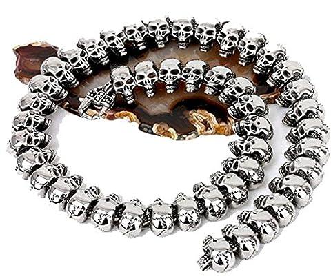 SaySure- Necklaces Vintage Full Skull Skeleton Necklace