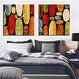 NAUY-Modern Style Canvas Painting Resumen Espacio y Tiempo Reloj de Pared en Lona 2pcs