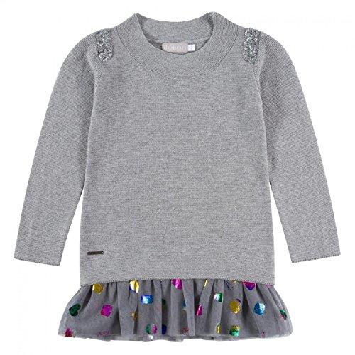 Bóboli Mädchen Strick-Kleid grau Gr. 110