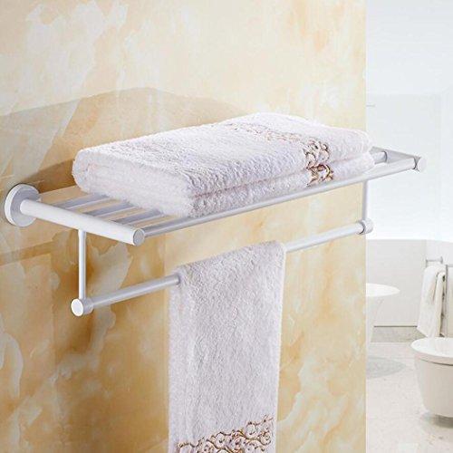 Cuarto de baño Toallero doble de acero inoxidable Cuarto de baño del hotel Montaje en la pared Estante de toalla de rack multipropósito Instalación de perforación Hardware blanco colgante