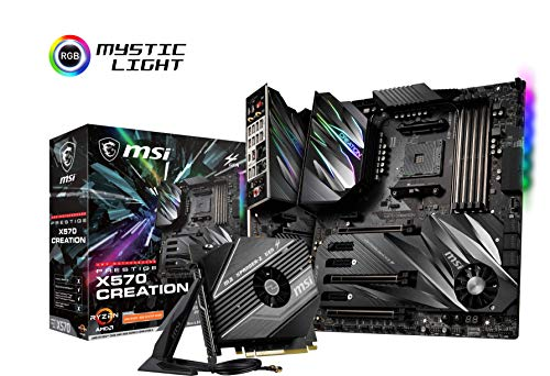 MSI Prestige X570 Creation AMD AM4 DDR4 SLI/CF m.2 USB 3.2 Gen 2 WLAN 6 E-ATX Motherboard - Msi Amd Laptops