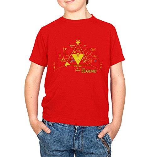 Texlab Kinder The Legend Circuit Board T-Shirt, Rot, XS