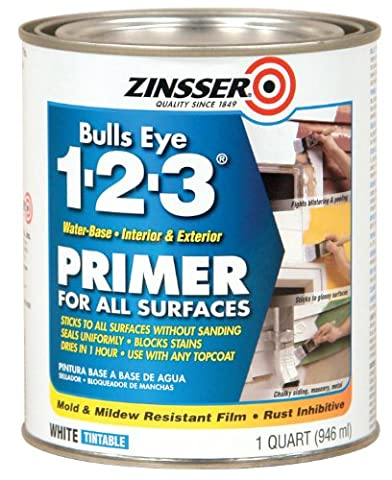 Rustoleum 02004 Quart Bulls Eye 1-2-3 Primer Sealer Stain Killer