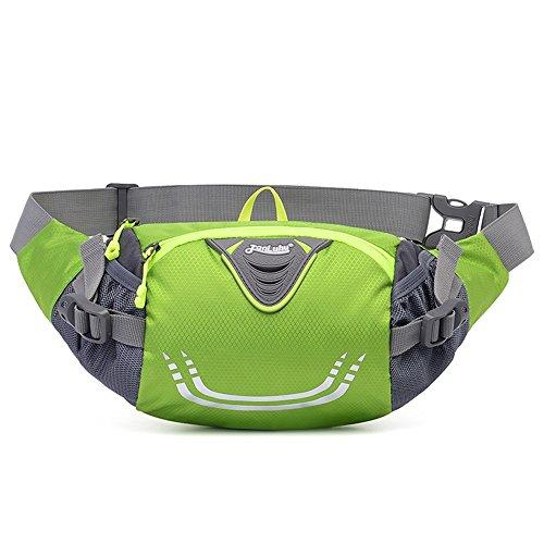 Ibssports Hüfttasche Multi-Function Gürteltasche Wasserabweisende Bauchtasche Flache Taille Tasche zum Sport und Reisen Grün